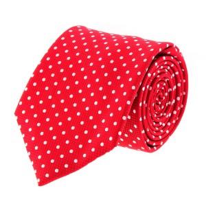 Catania Red - White Polka Dots