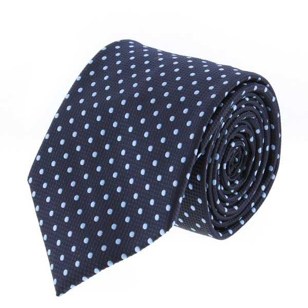 Catania Black - Blue Polka Dots